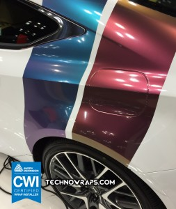 Color shifting car wrap vinyl